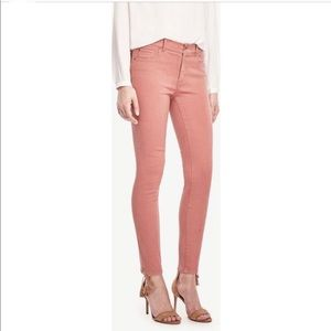 Ann Taylor pink coral skinny ankle jeans 6